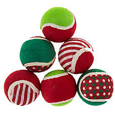 Merry & Bright™ Holiday Tennis Balls - 6 Pack