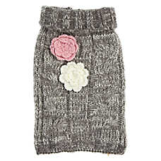 Top Paw® Flowers Marled Knit Pet Sweater
