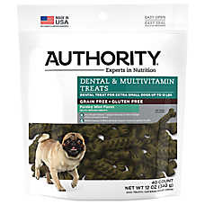 Authority® Dental & Multivitamin X-Small Dog Treat - Grain Free, Gluten Free, Parsley Mint