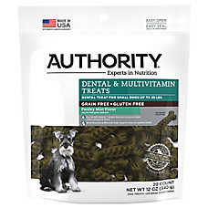 Authority® Dental & Multivitamin Small Dog Treat - Grain Free, Gluten Free, Parsley Mint