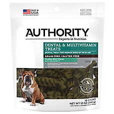 Authority® Dental & Multivitamin Medium Dog Treat - Grain Free, Gluten Free, Parsley Mint