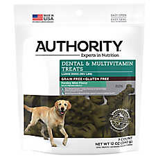 Authority® Dental & Multivitamin Large Dog Treat - Grain Free, Gluten Free, Parsley Mint