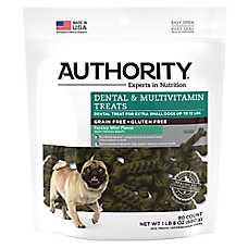 Authority® Dental & Multivitamin X-Small Dog Treat - Grain Free, Gluten Free, Parsley Mint