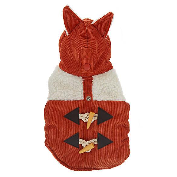 Top Paw Sherpa Fox Pet Coat With Ears Dog Sweaters Coats Petsmart