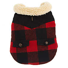 Top Paw® Buffalo Check Pet Coat