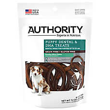Authority® Dental & DHA Rings Puppy Treat - Grain Free, Gluten Free, Parsley Mint