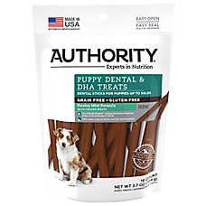 Authority® Dental & DHA Stick Puppy Treat - Grain Free, Gluten Free, Parsley Mint