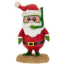 top fin snorkling santa holiday ornament - Christmas Aquarium Decorations