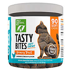 Only Natural Pet Tasty Bites Urinary Tract Care Cat Treat - Grain Free, Chicken & Cream