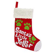 Merry & Bright™ Holiday Santa's Little Yelper Pet Stocking