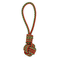 Merry & Bright™ Holiday Rope Tug Ball Dog Toy