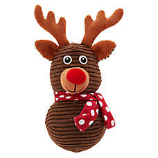 Merry & Bright™ Holiday Reindeer Squeaker Ball Dog Toy - Plush