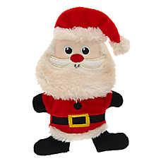 Merry & Bright™ Holiday Santa Flattie Dog Toy - Crinkle