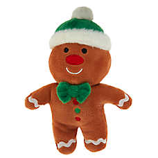 Merry & Bright™ Holiday Gingerbread Dog Toy - Plush, Squeaker