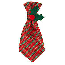 Merry & Bright™ Holiday Plaid Tie Collar Slide