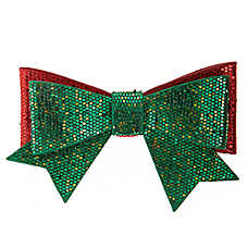 Merry & Bright™ Holiday Glitter Bow Collar Slide