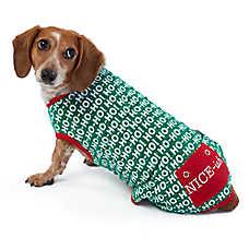 """Merry & Bright™ Holiday """"Ho Ho Ho"""" Onesie Pet Pajamas"""