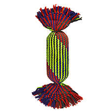 Top Paw® Rope Tube Dog Toy - Squeaker