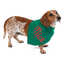 Merry & Bright™ Holiday Naughty & Nice Reversible Pet Bandana