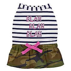Top Paw® Stripes & Camo Pet Dress