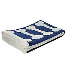 Top Paw® Holiday Dog Bones Sherpa Throw Pet Blanket