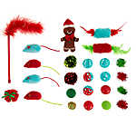 Merry & Bright™ Holiday Gingerbread Cat Toys Stocking - 24 Pack