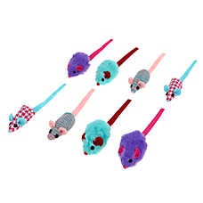 Merry & Bright™ Holiday Mice Cat Toys - 8 Pack