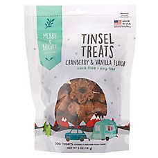 Merry & Bright ™ Tinsel Treats Snowflake Munch Dog Treat - Cranberry & Vanilla, 5 oz