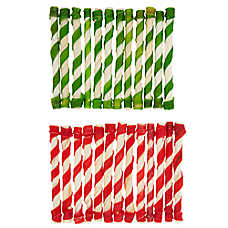 Merry & Bright ™ Holiday Red & Green Rawhide Twist Dog Treat - 25 ct
