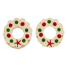 Merry & Bright ™ Holiday Festive Rawhide Wreath Dog Treat - 2 Count