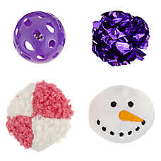 Merry & Bright™ Holiday Snowman Cat Toys - 4 Pack