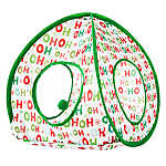 """Merry & Bright™ Holiday """"Ho-Ho-Ho"""" Pop-Up Cat Tent"""