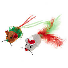 Merry & Bright™ Holiday Santa & Tutu Mice Cat Toys - 2 Pack