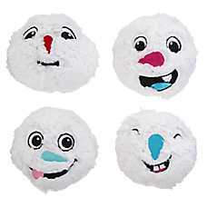 Merry & Bright™ Holiday Snowmen Ball Dog Toys - 4 Pack