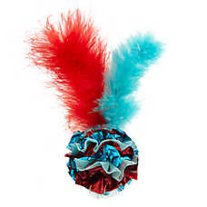 Merry & Bright™ Holiday Foil Ball & Feathers Cat Toy