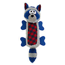 Top Paw® Holiday Racoon Bottle Cruncher Dog Toy - Plush, Squeaker