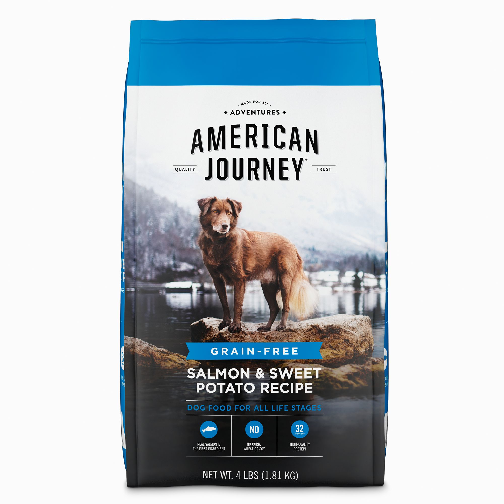 4.American Journey Salmon & Sweet Potato Recipe Grain-Free Dry Dog Food