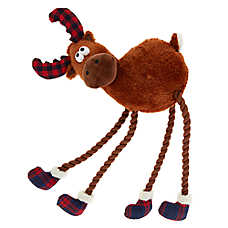 Top Paw® Holiday Moose Dog Toy - Rope, Squeaker