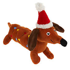 Merry & Bright™ Holiday Lights Dog Toy - Plush, Squeaker