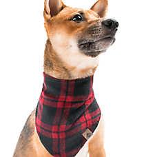 Beaver Canoe Faux Wool Dog Bandana