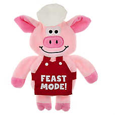 Top Paw® Fall Feast Flattie Pig Dog Toy - Crinkle