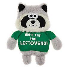 Top Paw® Fall Feast Raccoon Flattie Dog Toy - Crinkle
