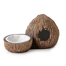 Exo Terra® Coconut Hideout & Water Dish