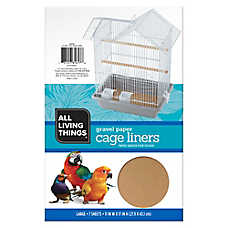 All Living Things® Gravel Paper Bird Cage Liners
