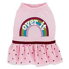 "Top Paw® ""Over It"" Rainbow Puppy Pet Dress"