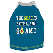 "Top Paw® ""Guac is Extra, and So Am I"" Puppy Pet Tee"