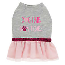 """Top Paw® """"Dog Hair Don't Care"""" Puppy Pet Dress"""