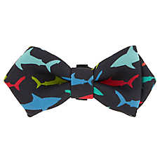 Top Paw® Sharks Bow Tie Puppy Collar Slide