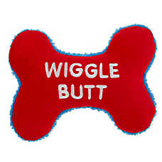 "Top Paw® Valentine ""Wiggle Butt""  Bone Dog Toy - Plush, Squeaker"