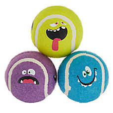 Top Paw® Faces Tennis Balls Dog Toys - 3 Pack